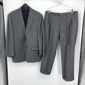 Men's Lauren Ralph Lauren Black Gray Suit 44 Short